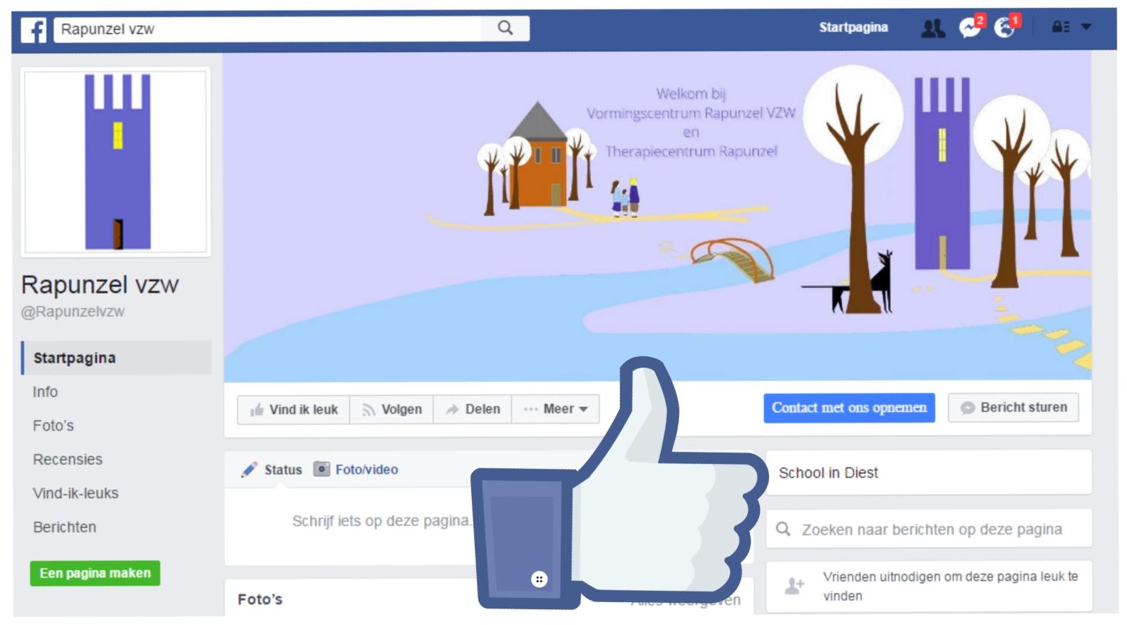 Facebookpagina Rapunzel